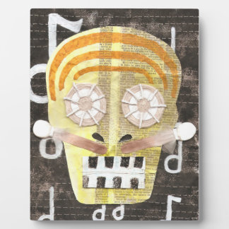 Musical Skull on a Easel Plaque