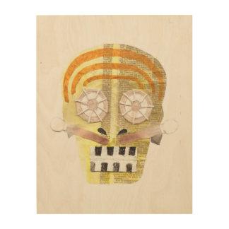 Musical Skull Wooden Canvas Wood Wall Art
