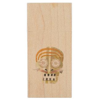 Musical Skull Wooden Pendrive Wood USB 2.0 Flash Drive