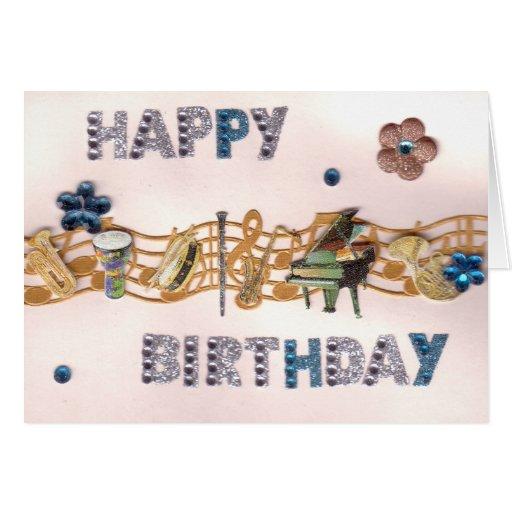 Musical Sparkles Birthday Card