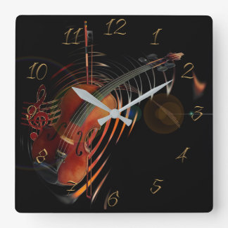 Musical Square Wall Clock