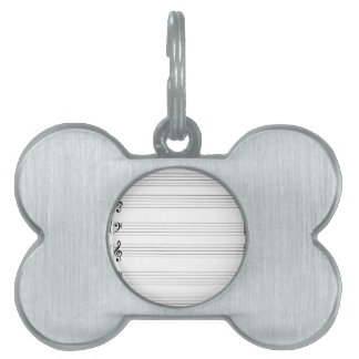 Musical Staff and Staves Pet ID Tags