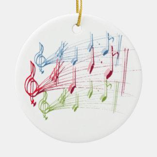 Musical Staff Christmas Ornament