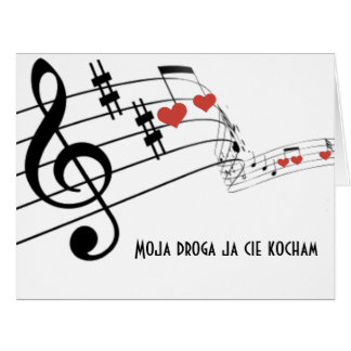 Musical Staff with notes and hearts