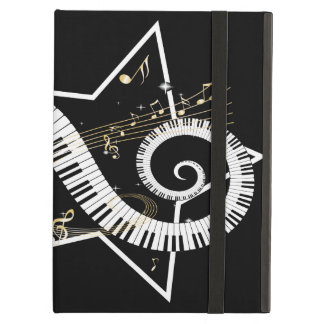 Musical Star Golden Notes iPad Air Cover