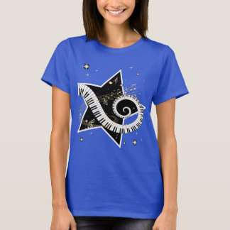 Musical Star golden notes T-Shirt