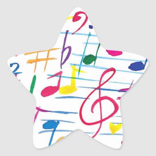 Musical Star Sticker