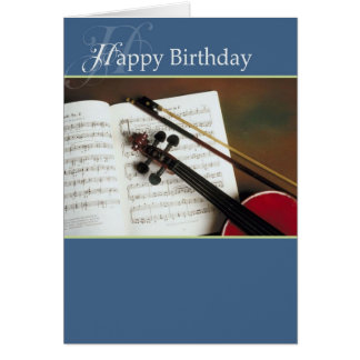 Musical Strings Happy Birthday Greeting Card