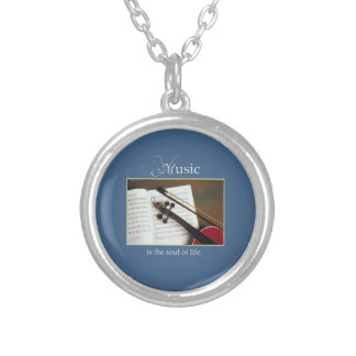Musical Strings, The Soul of Life, Traditional Silver Plated Necklace