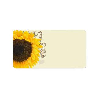 Musical Sunflower Address Labels