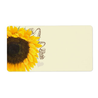 Musical Sunflower Shipping Labels