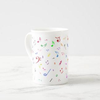 Musical Symbols in Rainbow Colors Bone China Mug