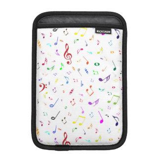 Musical Symbols in Rainbow Colors iPad Mini Sleeve
