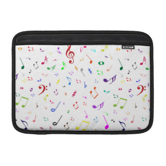 Musical Symbols in Rainbow Colors MacBook Sleeve