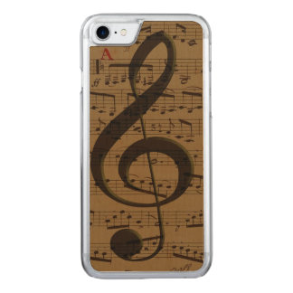 Musical Treble Clef sheet music Carved iPhone 8/7 Case