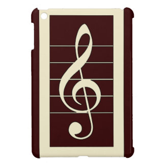 Musical Treble Clef Symbol Design iPad Mini Cover