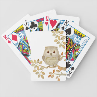 Musical Tree Owl Bicycle Playing Cards