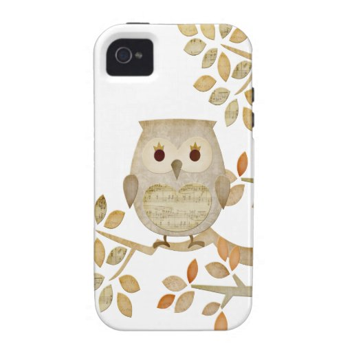 Musical Tree Owl iPhone 4/4S Case