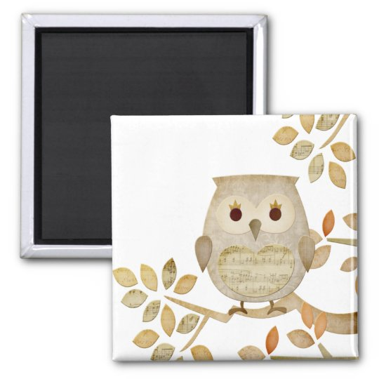 Musical Tree Owl Magnet