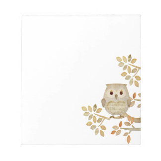 Musical Tree Owl Notepad