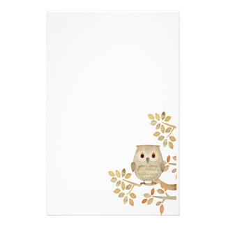Musical Tree Owl Stationery