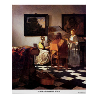 Musical Trio by Johannes Vermeer Poster