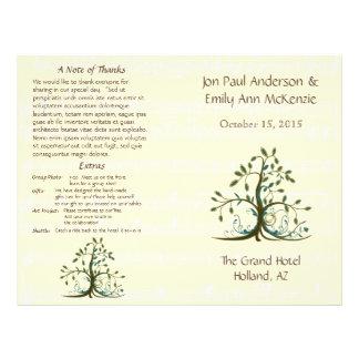 Musical Whimsical Tree Wedding Program Flyer