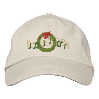 Musical Wreath Embroidered Hats