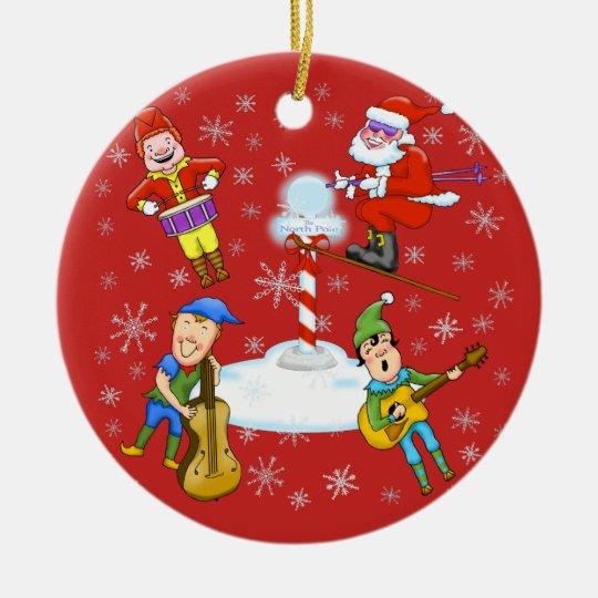 Musicial Elves Christmas Band Christmas Ornament