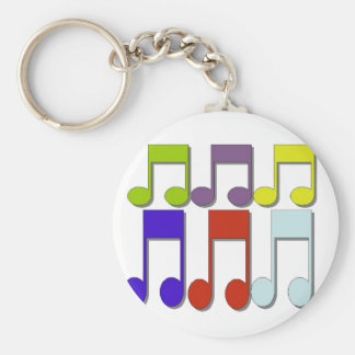 Musicial Note Basic Round Button Key Ring