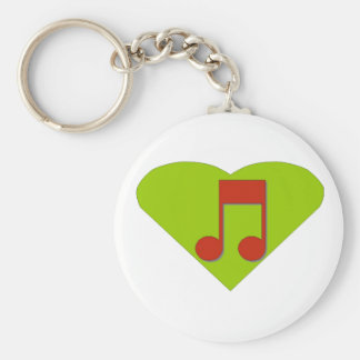 Musicial Note Key Ring