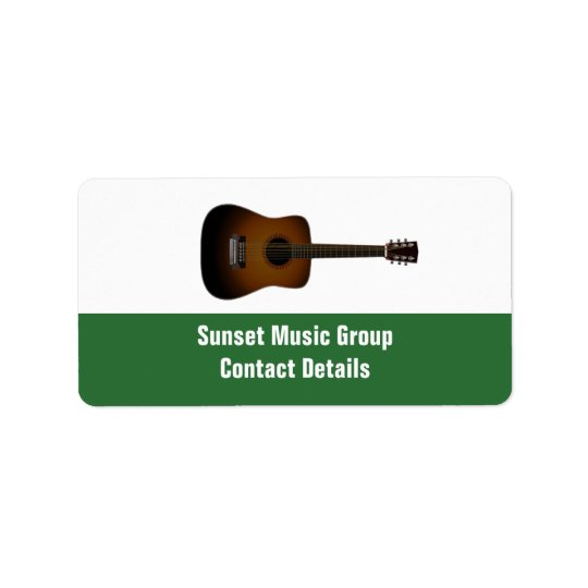 Musician and Music Promotional Avery Label Address Label