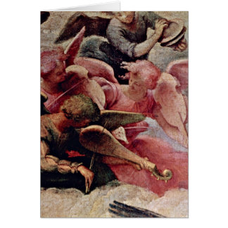 Musician Angels (Top Left) By Lorenzo Lotto Card