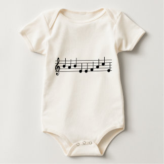 Musician Baby BABY FACE notes Bodysuits