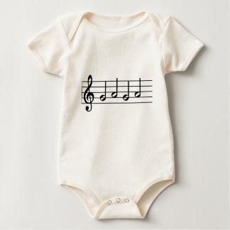 Musician Baby GAGA notes Baby Bodysuit