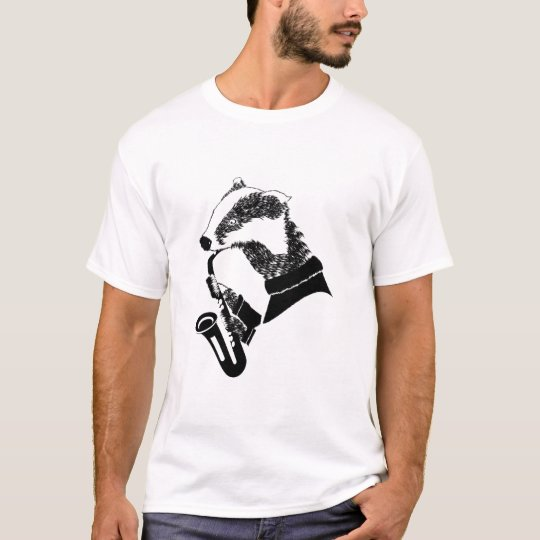 Musician Badger Saxophone Customisable T-Shirt