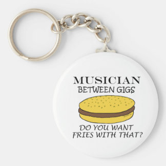 Musician Between Gigs Basic Round Button Key Ring