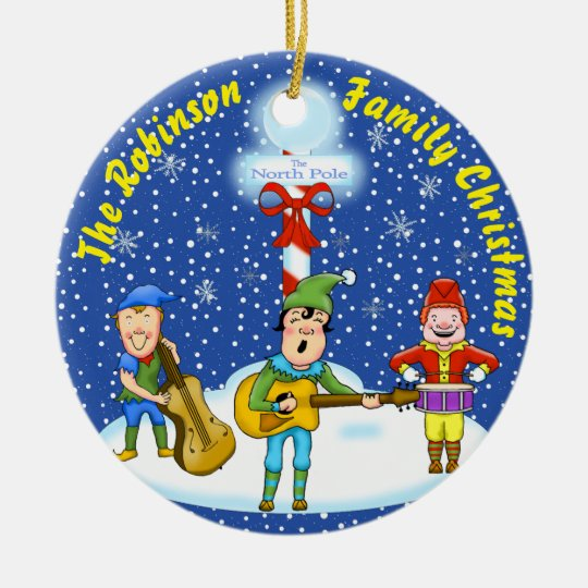 Musician Elves Christmas Ornament
