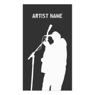 Musician Guitarist Singer Band Artist Publicity Pack Of Standard Business Cards