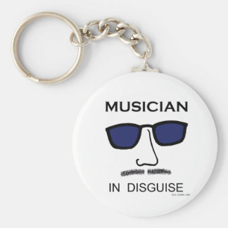Musician In Disguise Keychains