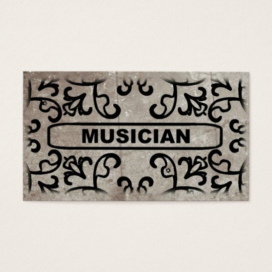 Musician Marble Damask Business Card