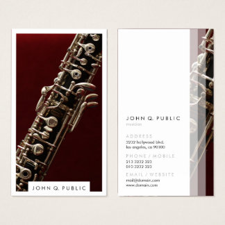 Musician Oboe Photograph Business Card