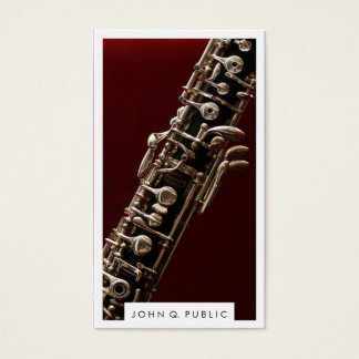 Musician Oboe Photograph Business Cards