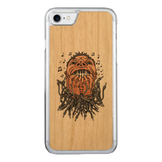 musician plays on his teeth like on keyboard carved iPhone 8/7 case