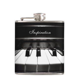 Musician s Inspiration Piano Personalized Flask