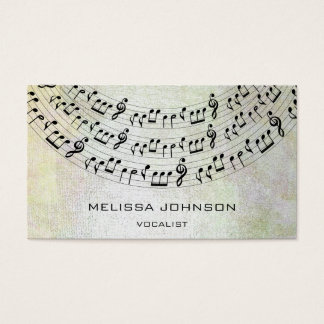 Musician Singer Componist Pianist Metallic Pastel Business Card