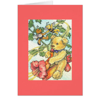 Musician Teddy Blank Note Card