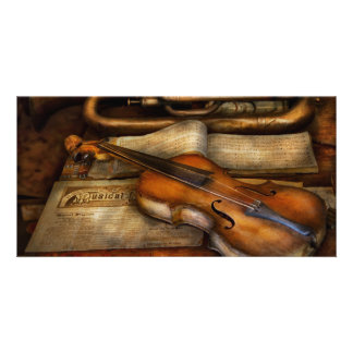 Musician - Violin - Played it s last song Personalized Photo Card