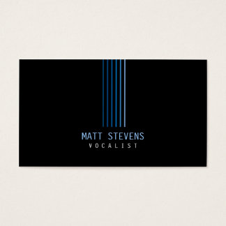 Musician Vocalist Business Card Blue Beams