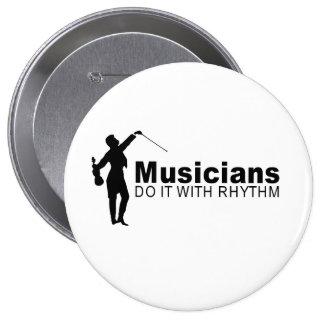 Musicians 10 Cm Round Badge